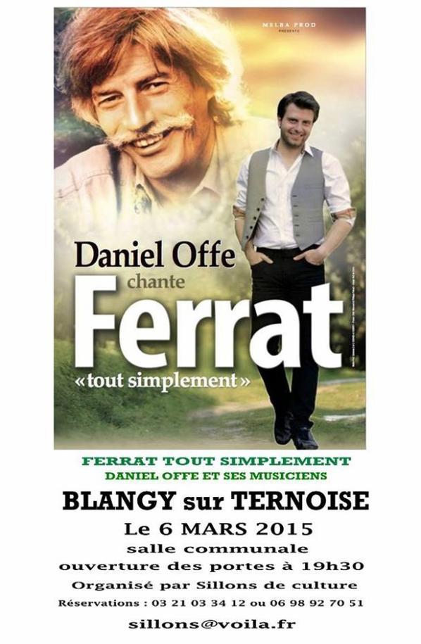 """""""Ferrat tout simplement"""" le 5 mars à Provin et le 6 Mars à Blangy sur ternoise"""