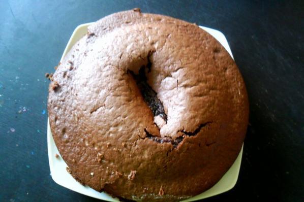 tout a l'haure,j'ai preparè un gateau au chocolat