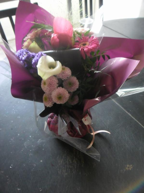 le super bouquet que m'a offert l'homme que j'aime pour mon anniversaire