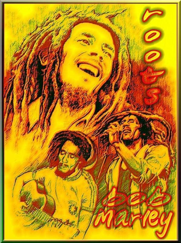 bob marley et lion jah bless