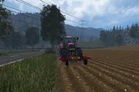 Sur la route pour aller semer