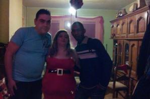 moi et deux amis a la noel