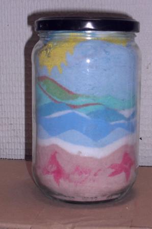 premiere tentative de sable coloré (enfin ici de sel coloré) Qu en pensez vous?