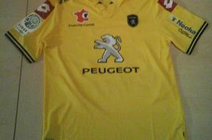 113ième maillot porté par Florian TARDIEU face à Auxerre