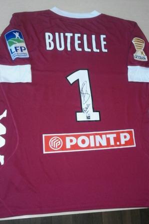 150ième maillot porté par Ludovic BUTELLE en 16ième de finale de la coupe de la ligue lors du match à TOURS