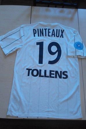 155ième maillot porté par Florian PINTEAUX lors du match au CA BASTIA