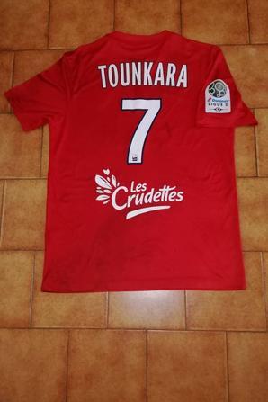 256ième maillot porté par Oumar TOUNKARA à AUXERRE