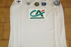 262ième maillot porté par Laurent HELOÏSE lors du 32ième de final de coupe de france à Auxerre contre AVALLON
