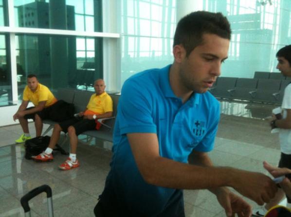 Jordi Alba 08.08.12 Départ pour la Suède