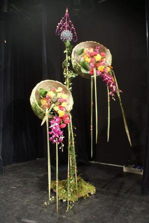 """Spectacle  floral """"noel """" d ici et d ailleurs  ,de mougins"""