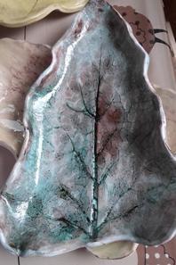 mes feuilles en céramiques