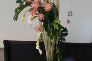 Exposition florale  de st cannat à côté  d'Aix en Provence.