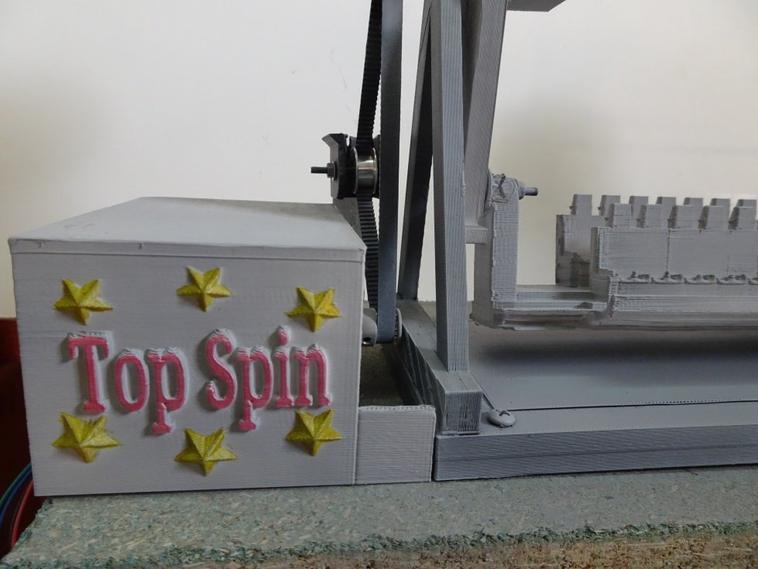 La maquette du TOPSPIN 1/43 ca prend forme...