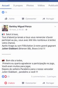 Maillot préparé pour Barkley Miguel PANZO