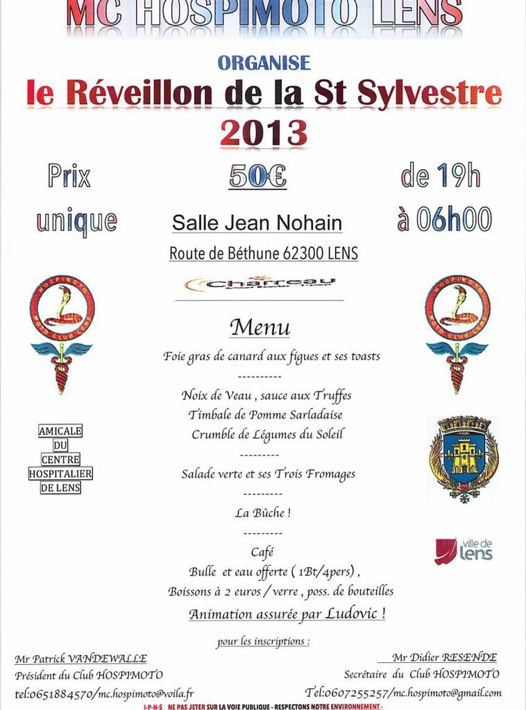 LA Saint Sylvestre 2013 à LENS , c'est Salle jean Nohain avec le MC HOSPIMOTO de LENS !