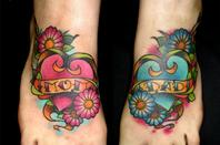 Tattoos de pieds!