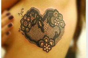 Lace tattoo - Tatouage dentelle