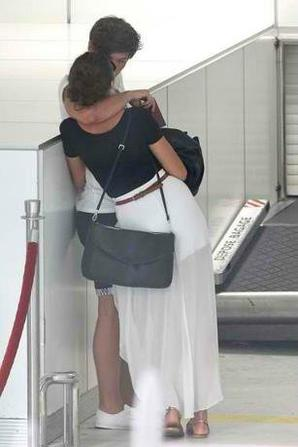 Louis et Eleanor a L'aeroport de Nice