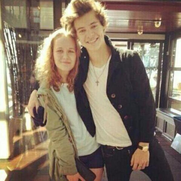HArry today with a fan