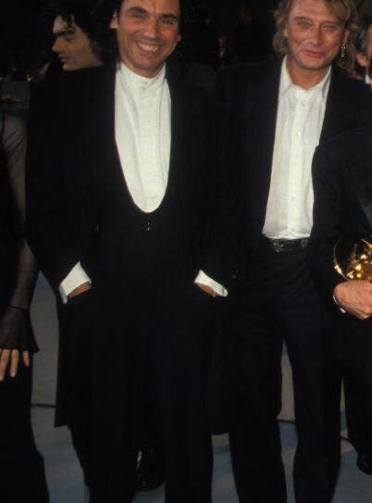 Jean Michel Jarre et johnny hallyday