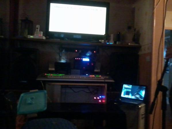 En répétition au studio le 23/11/2012