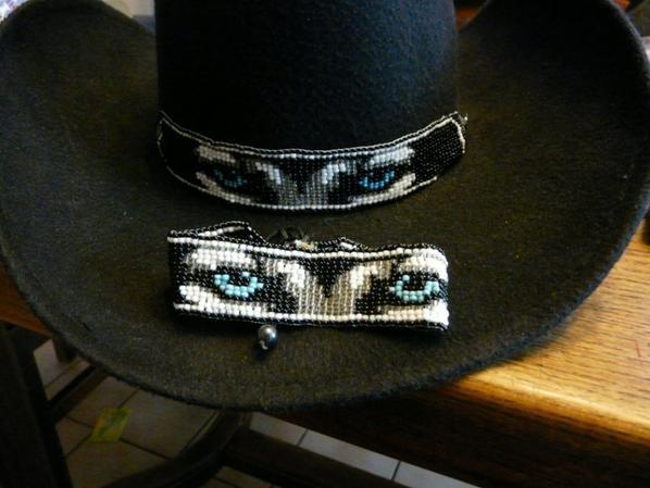 tour de chapeau et bracelat