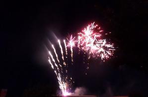 Feu d'artifice du 14 juillet à Portes lès Valence