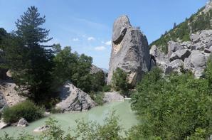 moi au lac de Luc - Source de la Drôme