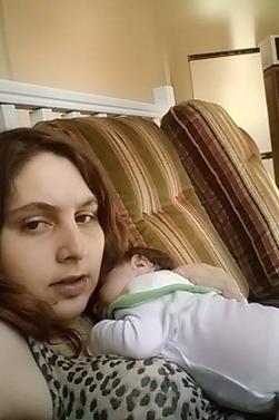 la dernière photo aprés l'accouchement