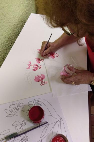 atelier peinture avec Raymonde