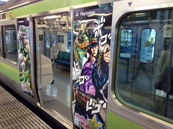 (✪㉨✪)  ようこそ ジョジョの奇妙な列車へ・・・すごい !!(✪㉨✪)