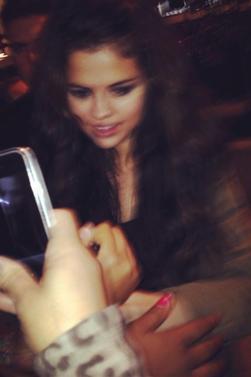 Selena avec ses fans