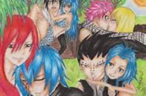 voici mes manga pur le concour de passion of fairy tail