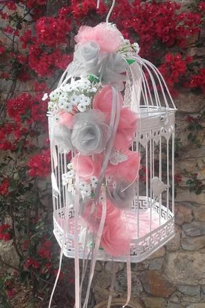 déco mariage rose et gris