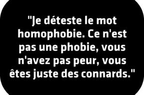 L'homophobie n'a pas sa place :