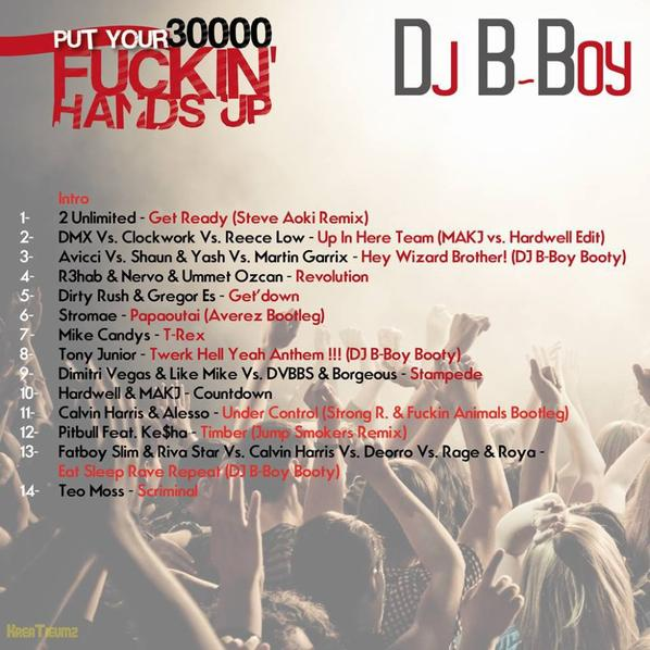 DJ B-Boy - Put Your 30000 Fuckin' Hands Up (Mix-Tape)