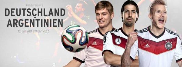 Ce soir la finale de la coupe du monde Allemagne-Argentine : aller la mannschaft ♥♥♥♥♥