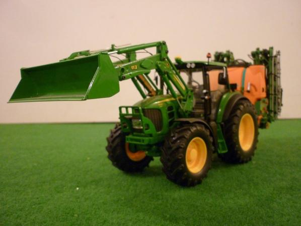 john deere 7430 a/chargeur - amazone UF 1801
