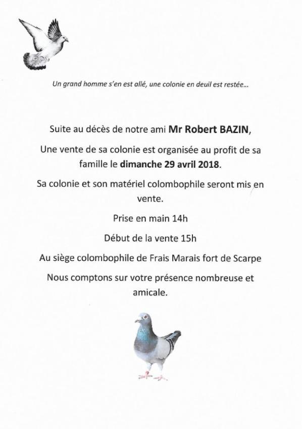 DECES DE MR BAZIN