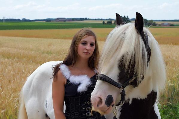 séance photo avec mon cheval