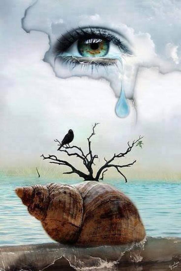 Et dans le Coin de l'oeil une goutte qui formera une larme , qui formera des flaques , qui formeront des fleuves , qui fermeront l'accès à tous ces Espoirs inhumés , est ce inhumain de Rêver ?...