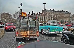 1ère Sortie Gonky & Choupette traversée de Paris Janvier 2014
