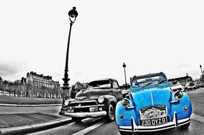 Quelques 2 CV vu à la traversée de Paris 2017
