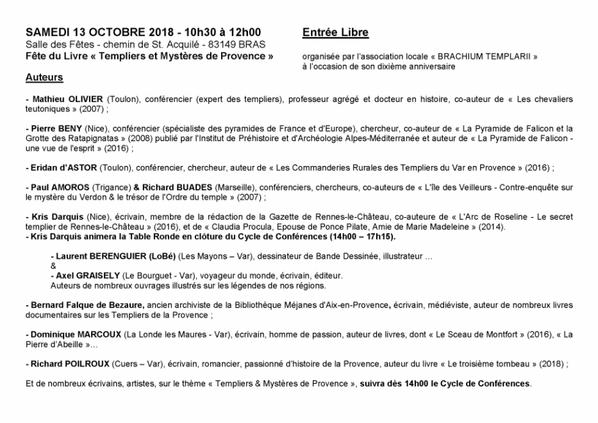 """"""" Templiers & Mystères de Provence """""""