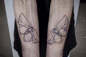 Papillon à même la peau !