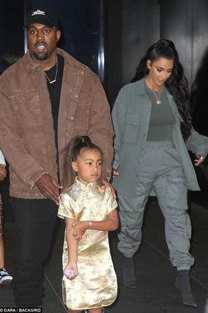 Kanye & Kim avec North