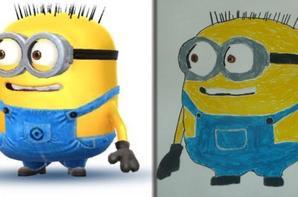 Mes dessins des minions avec les modèles partie 2