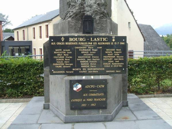 Monument aux morts de Bourg-Lastic