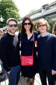Alex Lutz, Claude Lelouch, Tom Dingler et Helena Noguerra à Roland Garros le 3 Juin 2015.