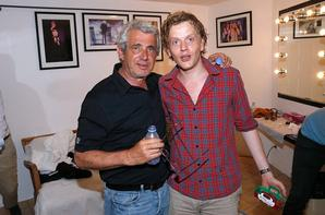 Michel Boujenah et Alex Lutz au cours du 31eme festival de ramatuelle le 8 août 2015